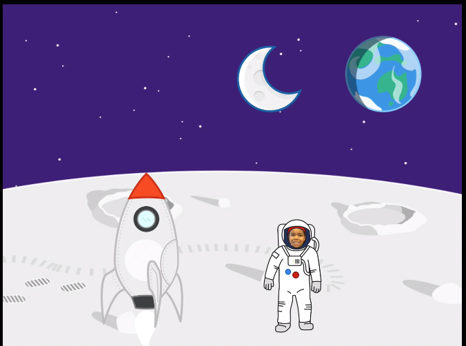 astronaut, blast off, rocket, spaceship, moon, outer space, nasa, mars, coding, scratch jr, student project