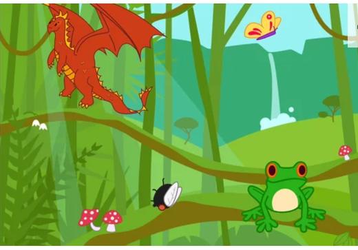 Frog Eats Fly, scratch jr, coding