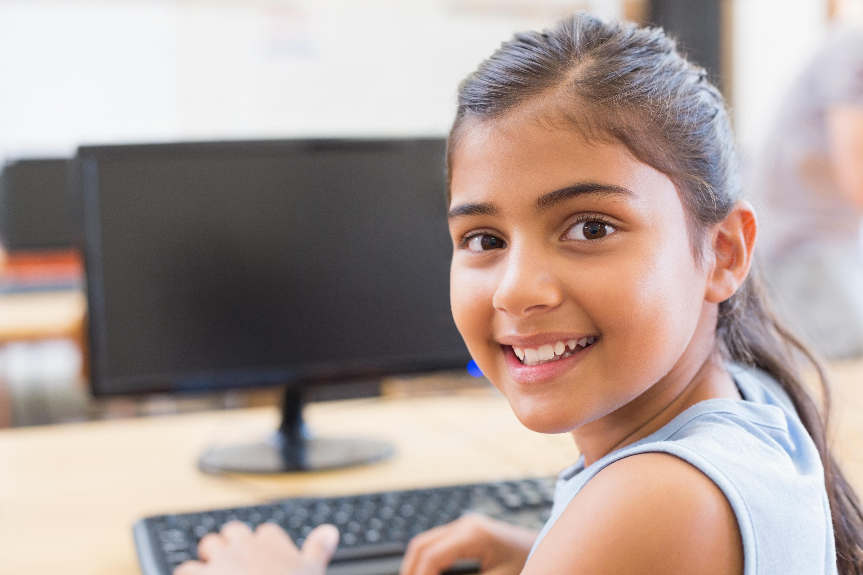 Cute Pupil In Computer Class