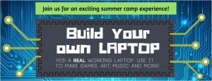 summer camp, code camp, build laptop