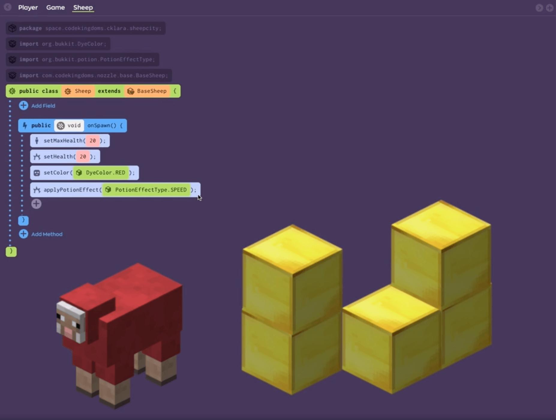 minecraft modding camp, virtual tech camp, java code