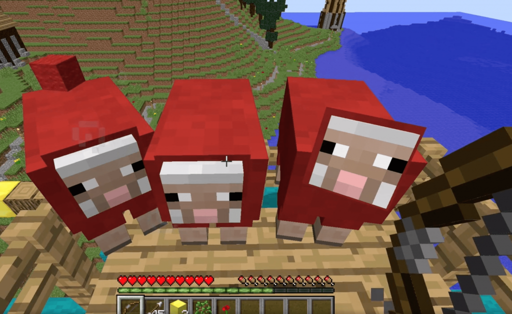 minecraft red sheep, minecraft modding camp, virtual tech camp