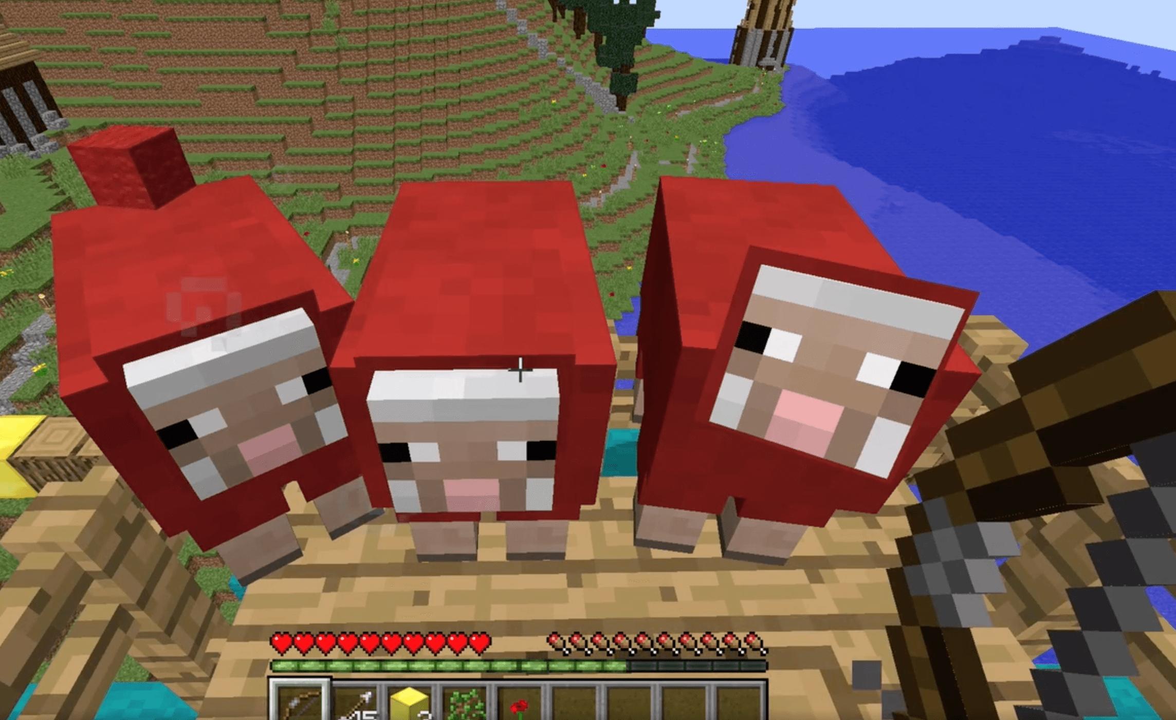 minecraft red sheep, minecraft modding camp, virtual tech camp