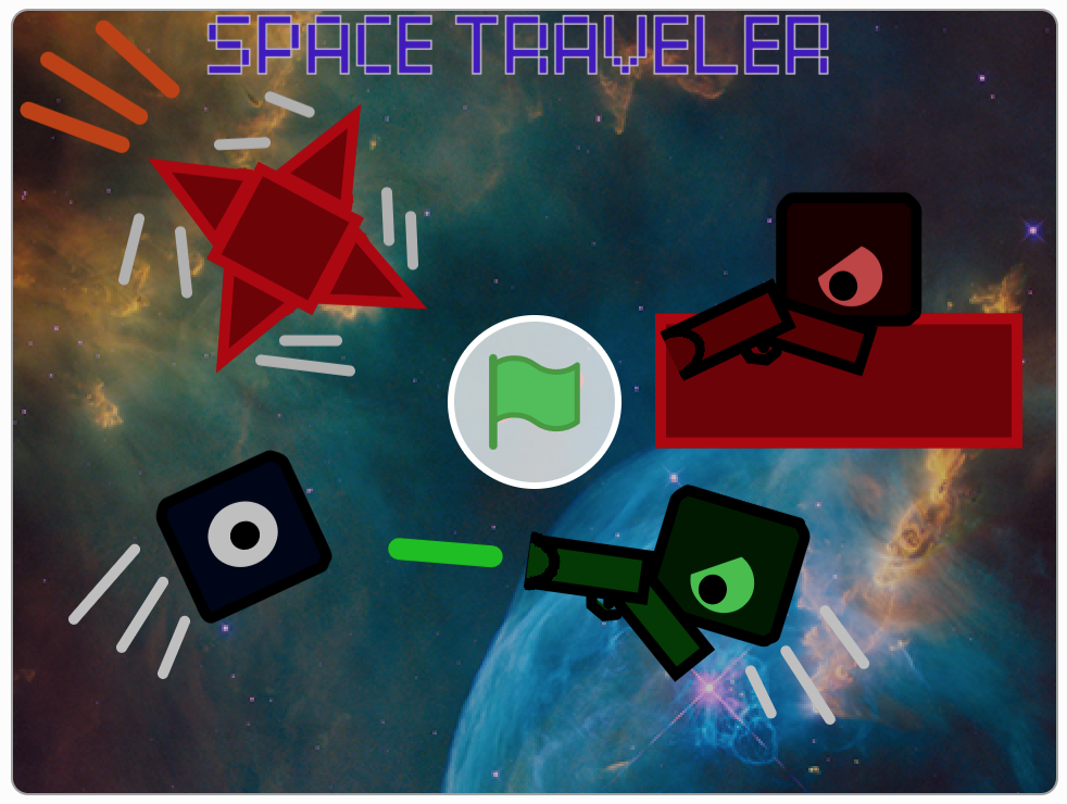 space traveler, student project, scratch